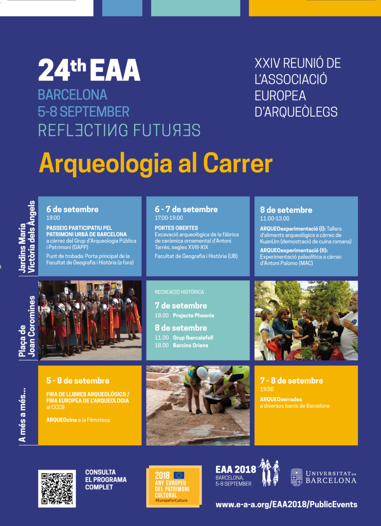 Arqueologia al carrer EAA 2018 Barcelona